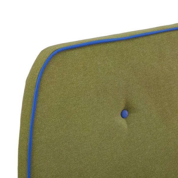 Bettgestell Grün Stoff 90×200 cm