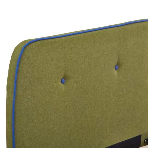 Bettgestell Grün Stoff 160 x 200 cm