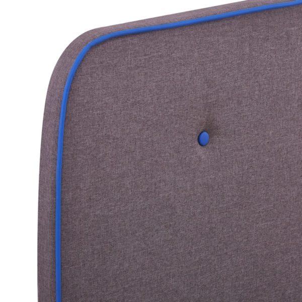 Bettgestell Taupe Stoff 120×200 cm