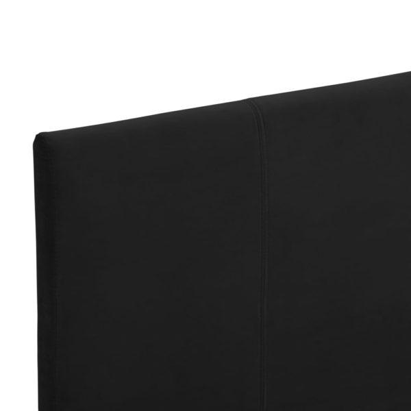 Bettgestell Schwarz Stoff 90×200 cm