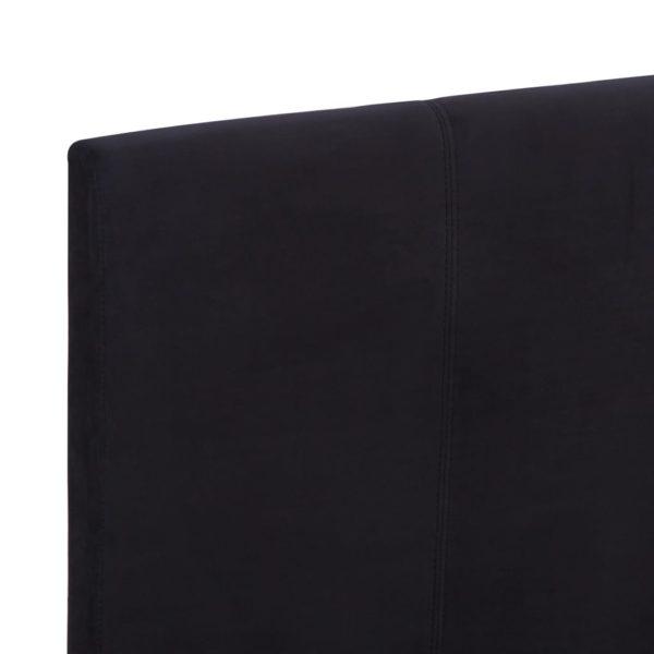 Bettgestell Schwarz Stoff 180 x 200 cm