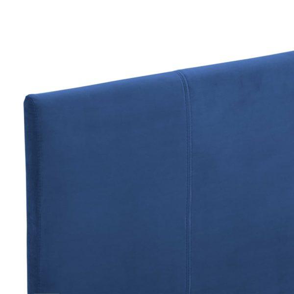 Bettgestell Blau Stoff 90×200 cm
