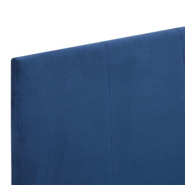 Bettgestell Blau Stoff 120 x 200 cm