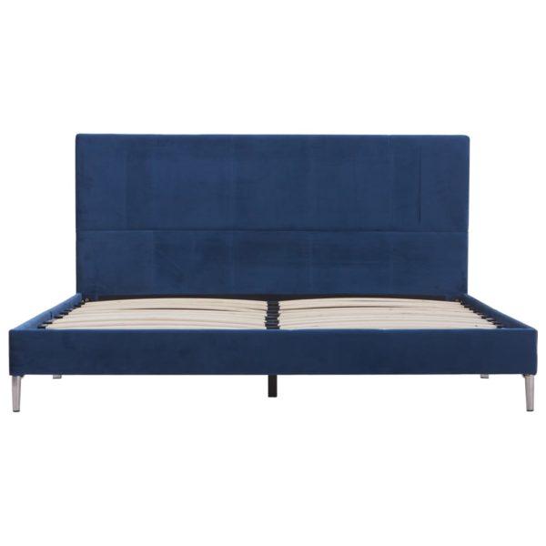 Bettgestell Blau Stoff 140 x 200 cm