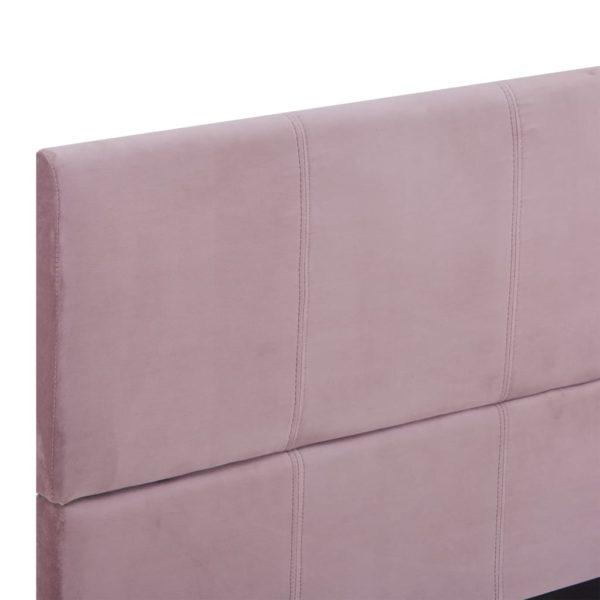 Bettgestell Rosa Stoff 160 x 200 cm