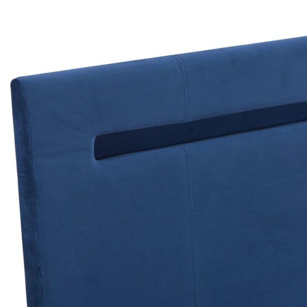 Bettgestell mit LED Blau Stoff 120 x 200 cm