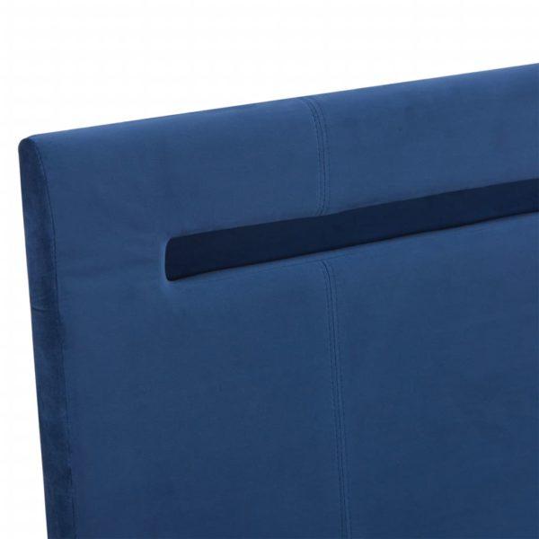 Bettgestell mit LED Blau Stoff 140 x 200 cm