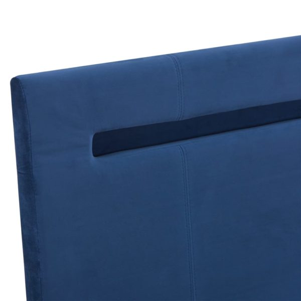 Bettgestell mit LED Blau Stoff 180 x 200 cm
