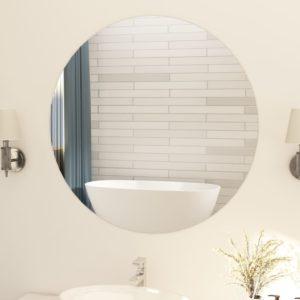 Rahmenloser Spiegel Rund 90 cm Glas