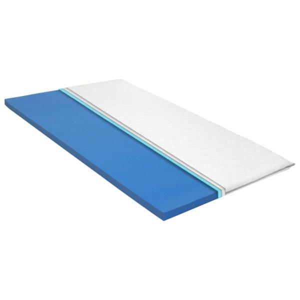 Matratzenauflage 80 x 200 cm viskoelastischer Memory-Schaum 6cm