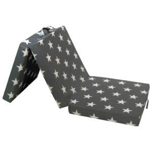 3-teilige Klappmatratze 190×70×9 cm Grau