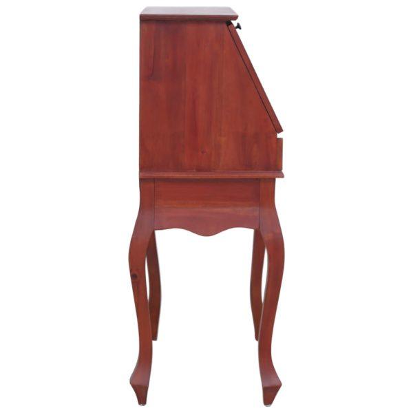 Sekretär Braun 78×42×103 cm Massivholz Mahagoni