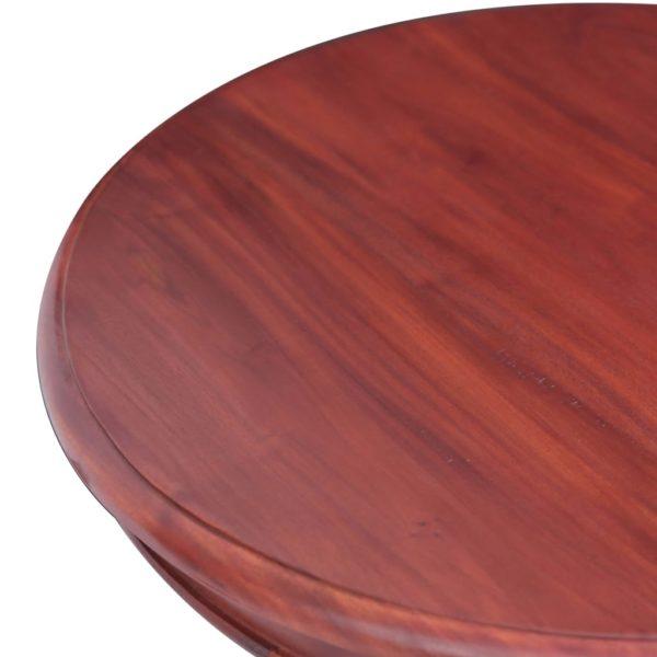Beistelltisch Braun 50 x 50 x 65 cm Massivholz Mahagoni