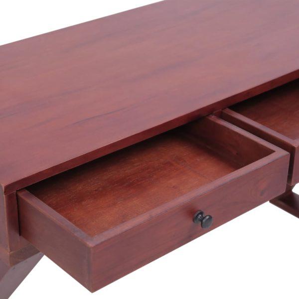 PC-Tisch Braun 132 x 47 x 77 cm Massivholz Mahagoni