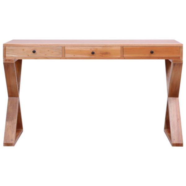 PC-Tisch Natur 132 x 47 x 77 cm Massivholz Mahagoni
