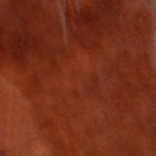 Schaukelstuhl Braun Echtleder und Massivholz Mango