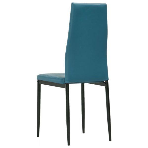 Esszimmerstühle 4 Stk. Meeresblau Kunstleder