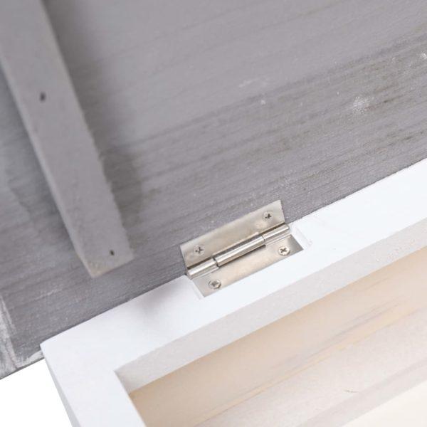 Schuhschrank Grau 50 x 28 x 58 cm Paulownia Holz