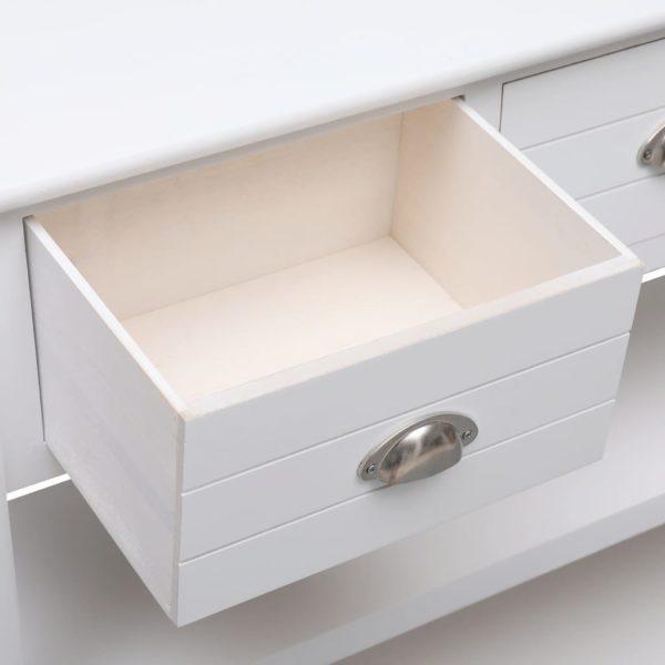 Sideboard Weiß 115 x 30 x 76 cm Holz