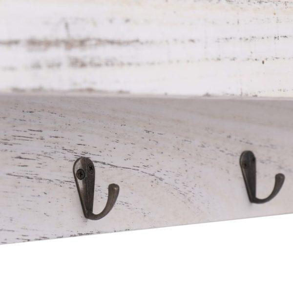 Wandgarderobe Weiß 50×10×23 cm Holz