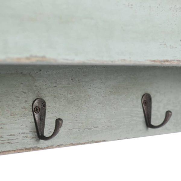 Wandgarderobe Grün 50×10×23 cm Holz