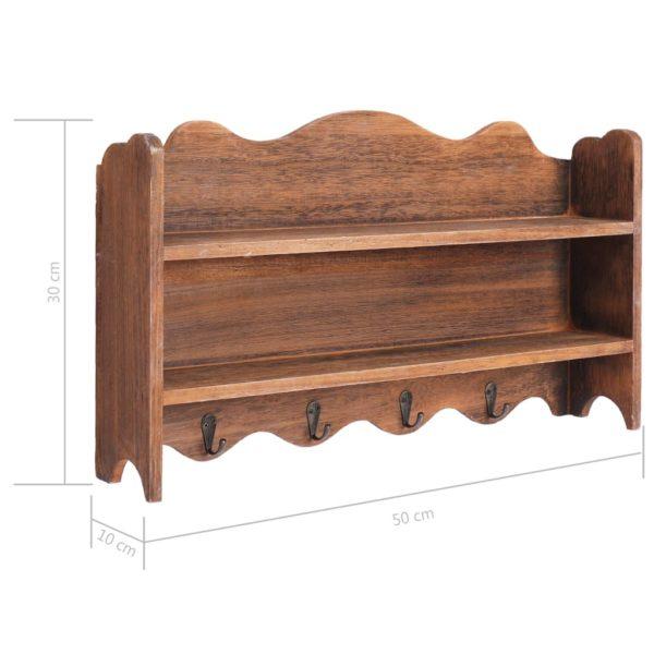 Wandgarderobe Braun 50 x 10 x 30 cm Holz