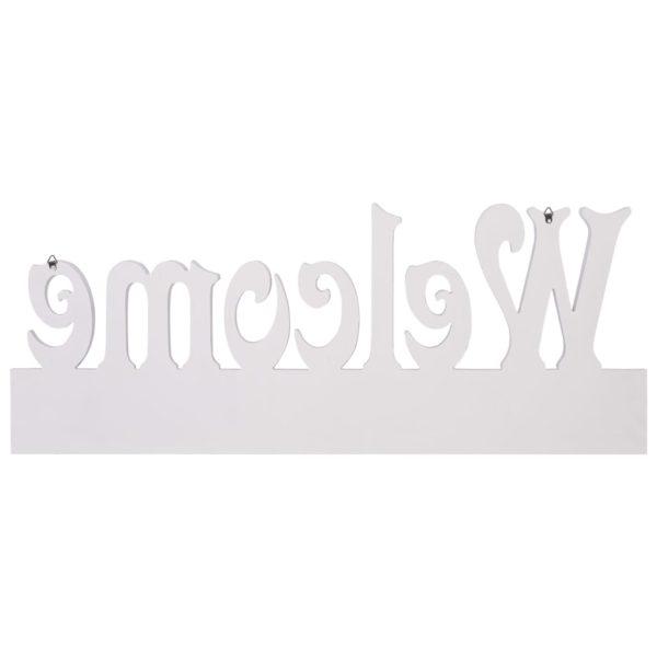Wandgarderobe WELCOME Weiß 74 x 29,5 cm