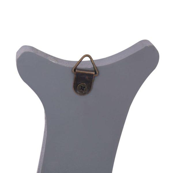 Wandgarderobe WELCOME Grau 74 x 29,5 cm