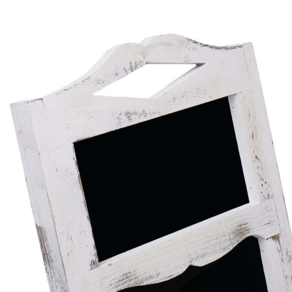 Tafel-Aufsteller Weiß 33×39×75 cm Holz