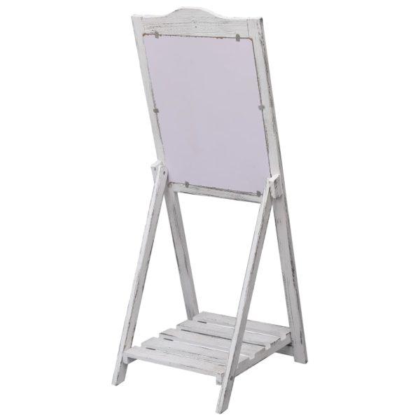 Tafel-Aufsteller Weiß 42×44×112 cm Holz