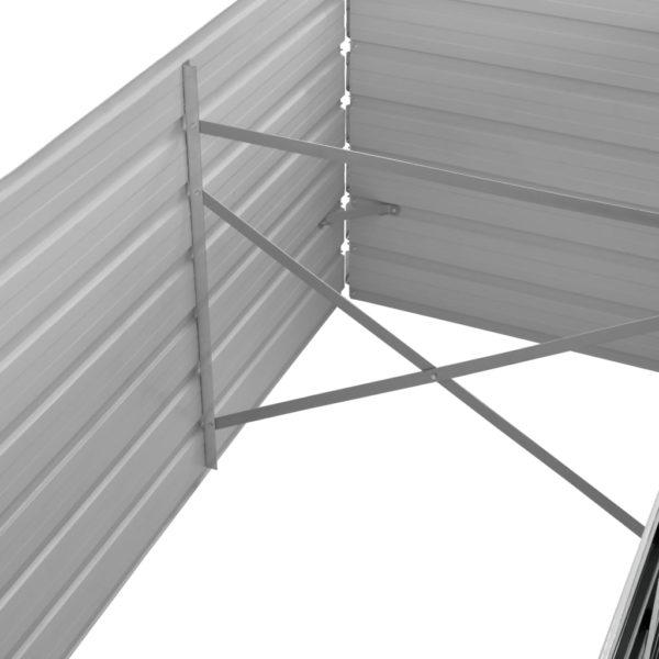 Garten-Hochbeet Anthrazit 320 x 80 x 77 cm Verzinkter Stahl