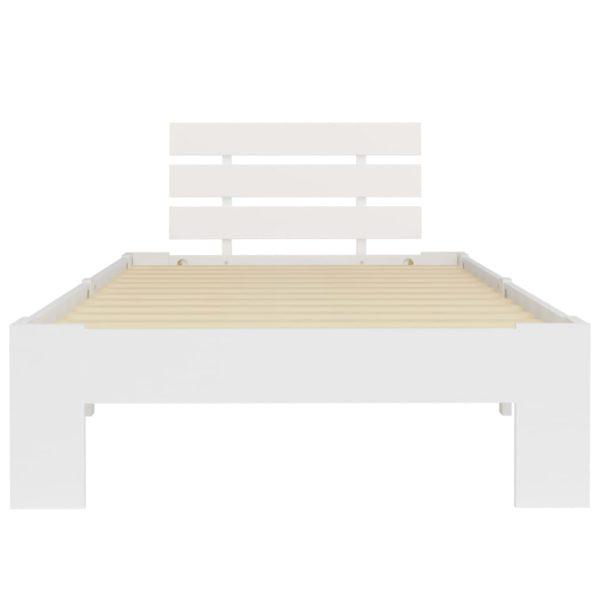 Bettgestell Weiß Massivholz Kiefer 100 × 200 cm