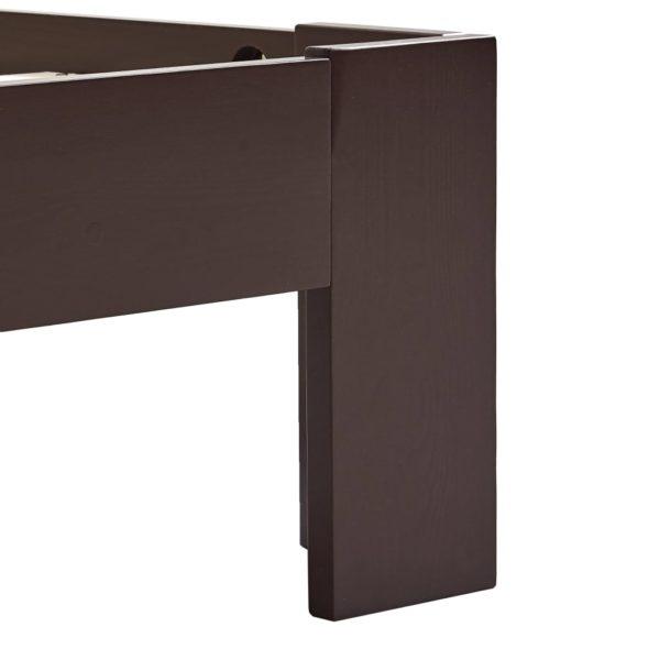 Bettgestell Dunkelbraun Massivholz Kiefer 180×200 cm