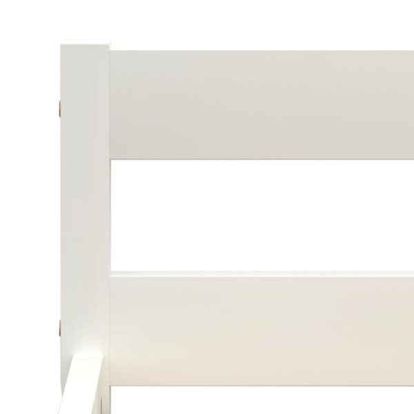 Bettgestell Weiß Massivholz Kiefer 100×200 cm