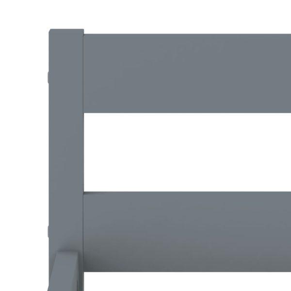Bettgestell Grau Massivholz Kiefer 100 × 200 cm