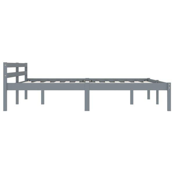 Bettgestell Grau Massivholz Kiefer 160 × 200 cm