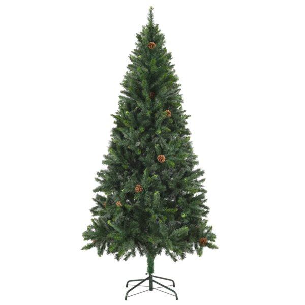 Künstlicher Weihnachtsbaum mit Kiefernzapfen Grün 180 cm