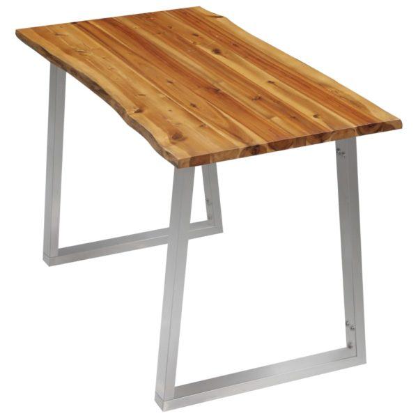 Esstisch 120×65×75 cm Akazie Massivholz und Edelstahl