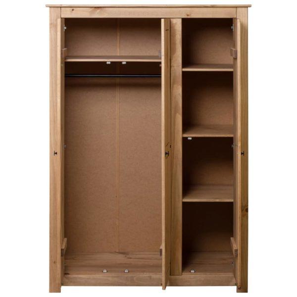 Kleiderschrank 3-Türig 118×50×171,5 cm Kiefer Panama Serie