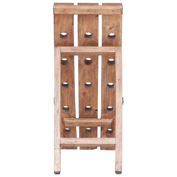 Weinregal für 15 Flaschen 26×50×70 cm Massives Altholz