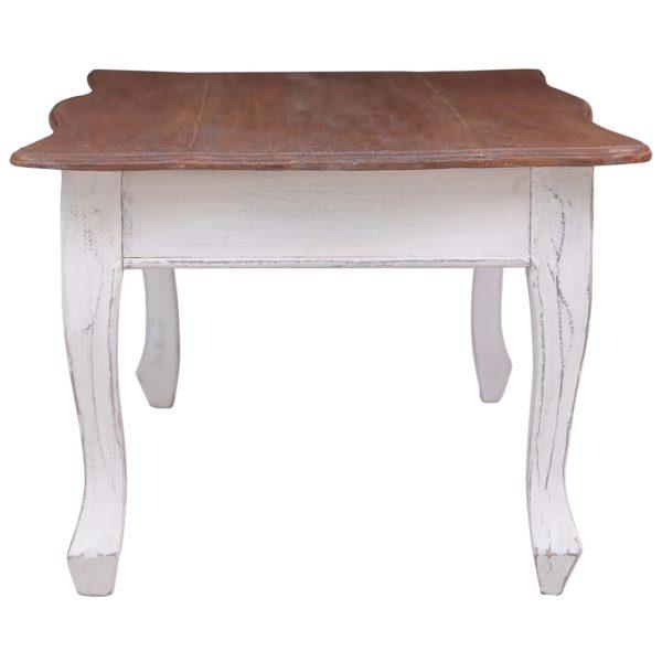 Couchtisch Weiß 120 x 60 x 45 cm Massivholz Mahagoni