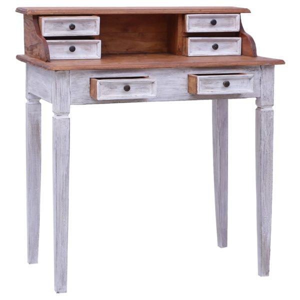 Schreibtisch mit Schubladen 90×50×101 cm Massivholz Altholz