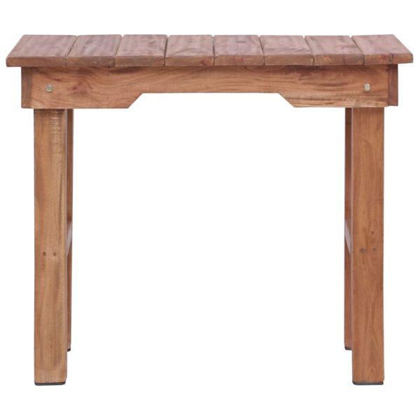 Beistelltisch 70 x 35 x 60 cm Massivholz Mahagoni