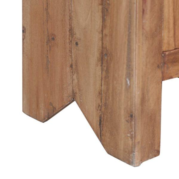 Nachtschrank 43×31×80 cm Massivholz Mahagoni