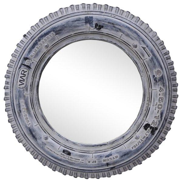Spiegel Weiß 50 cm Regenerierter Gummireifen