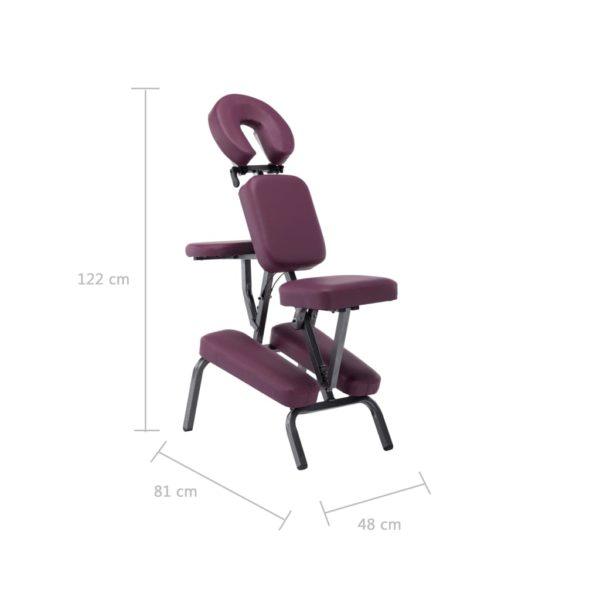 Massagestuhl Kunstleder Burgunderrot 122×81×48 cm