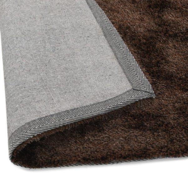 Hochflor-Teppich 160 x 230 cm Braun