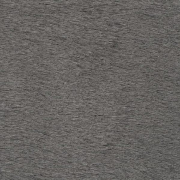 Teppich 120 x 160 cm Kunstkaninchenfell Dunkelgrau