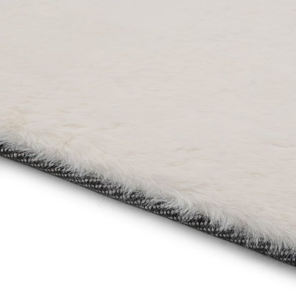 Teppich 80x150cm Kunstkaninchenfell Creme