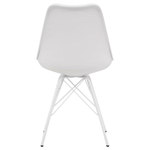 Esszimmerstühle 4 Stk. Weiß Kunstleder
